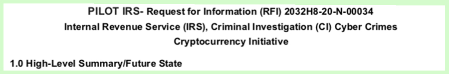 The IRS Investigation Division Is Requesting Information About Privacy-Centric Cryptocurrencies