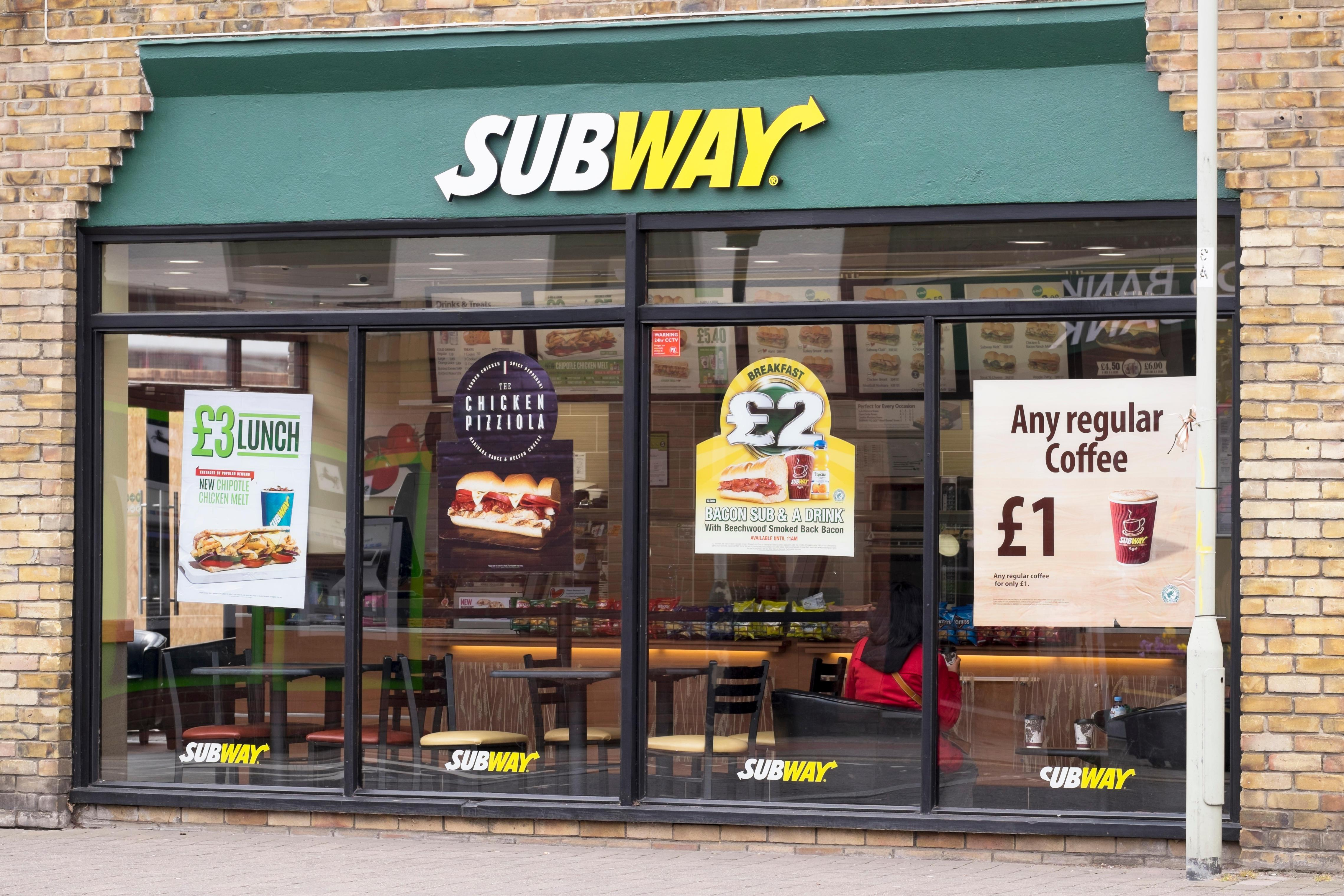 Subway is only open for takeaways and home deliveries for now