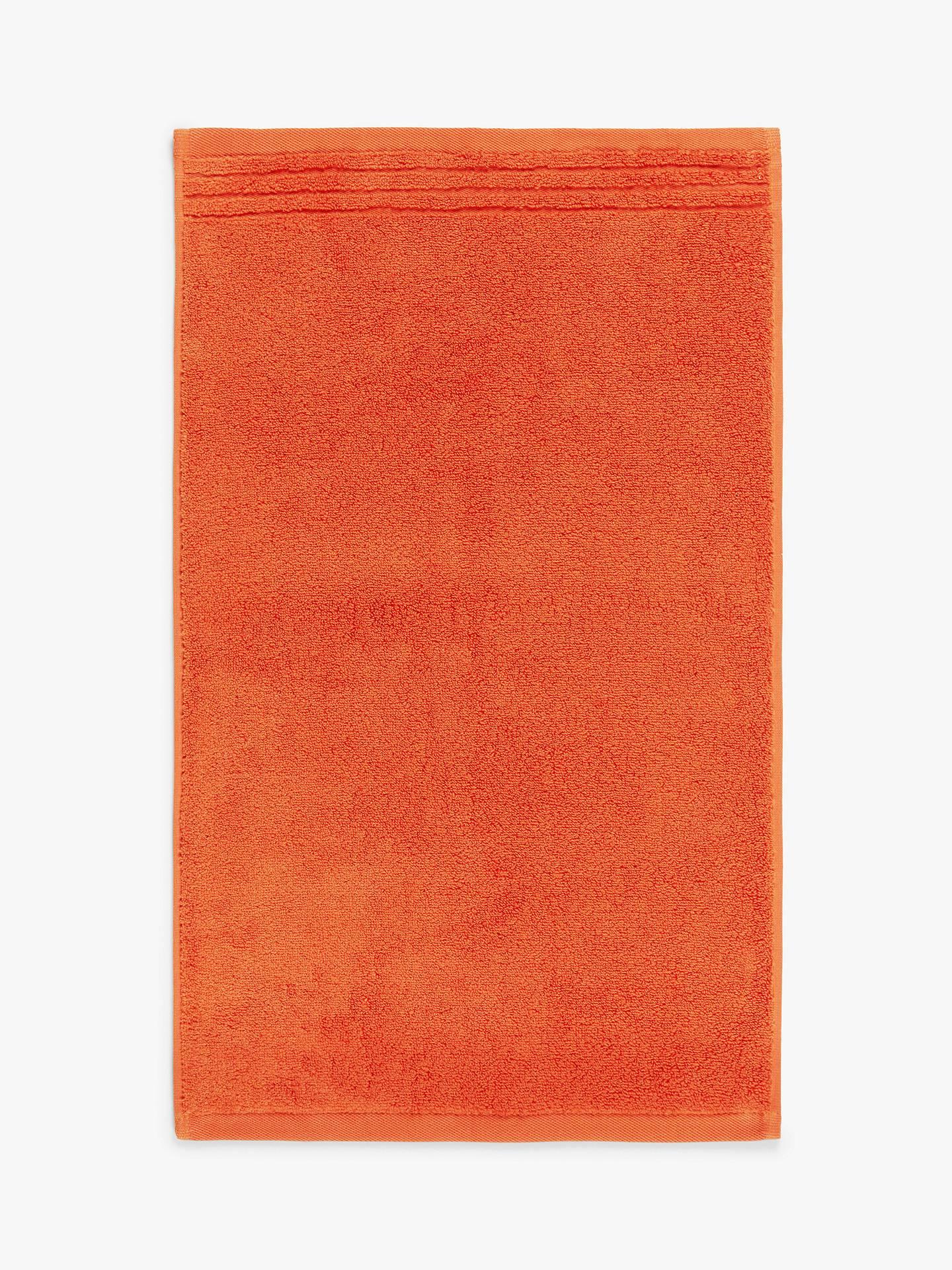 This orange bath towel form John Lewis is £13