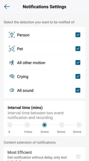 eufy app notifications