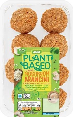 For a meat-free feast, Asda Plant-Based Mushroom Arancini are £2.25