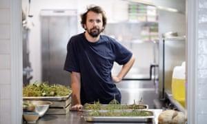 Merlin Labron-Johnson in his restaurant Osip