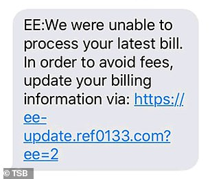 This message claims to be from EE. Many fraudsters use cheap number spoofing boxes which allow them to easily copy real phone numbers and sit alongside legitimate messages
