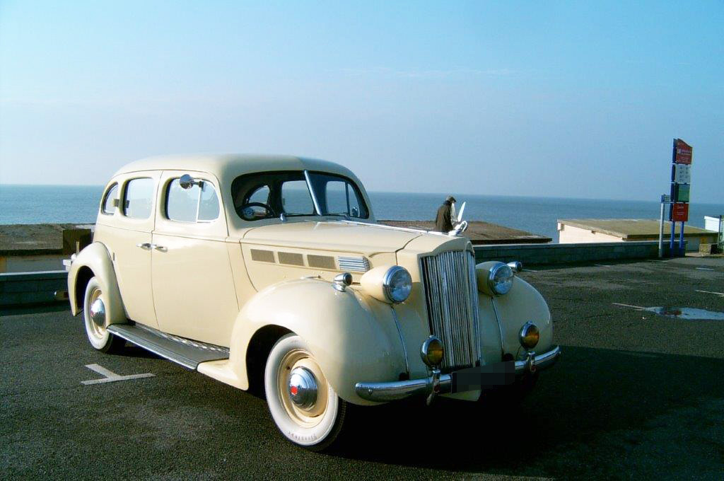 Owner Steve Day says 'my 1938 Packard and it is one of only a few in the UK'