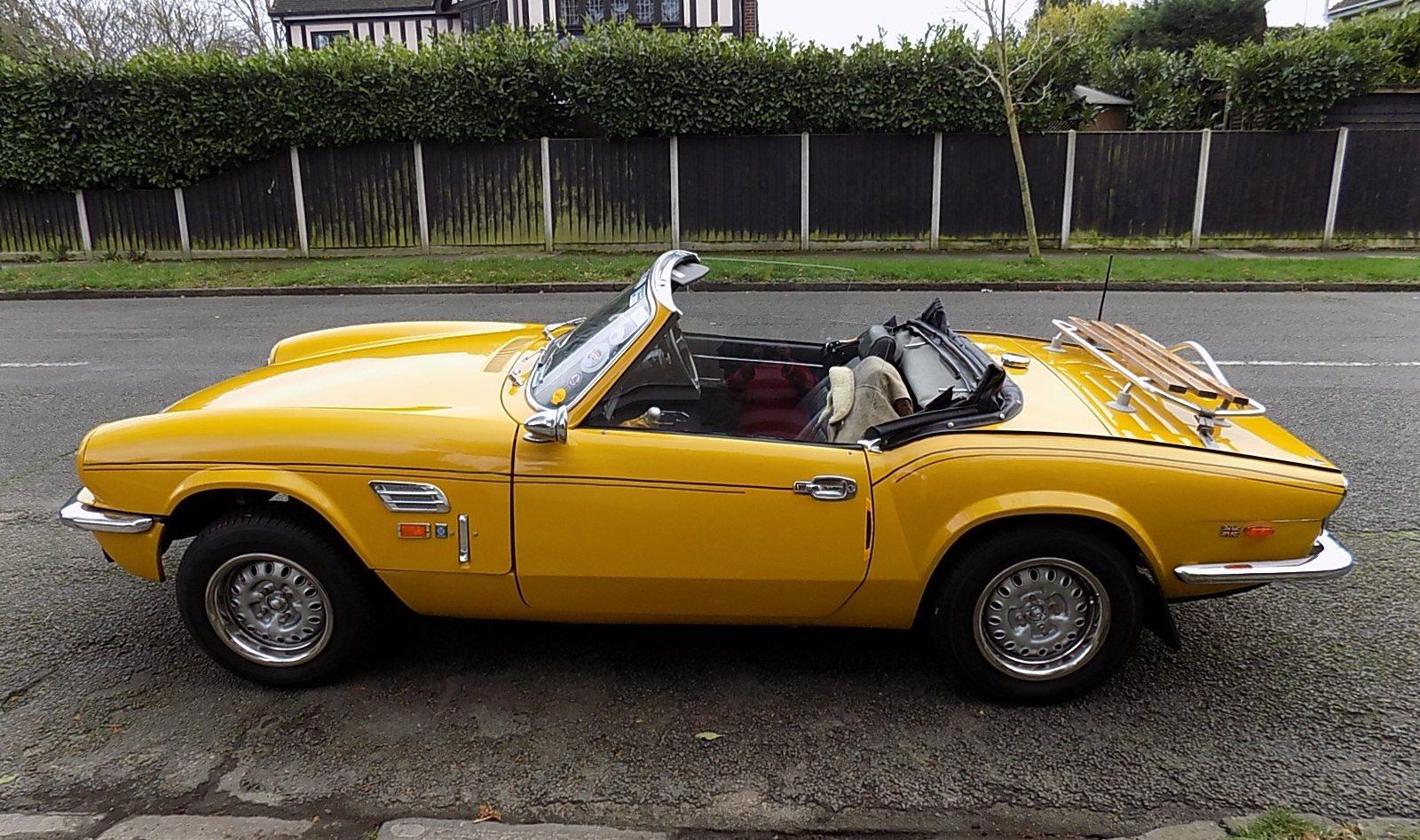 Alfie says Barrie Lane's Triumph Spitfire is a 'proper British classic sports car'