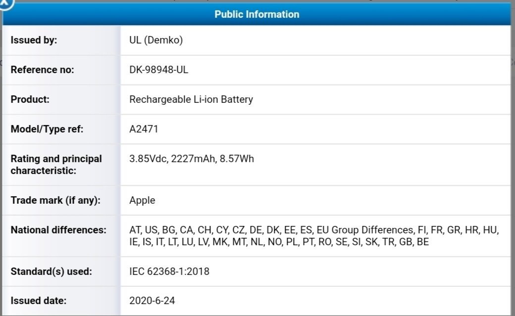 iPhone 12 Battery Certified
