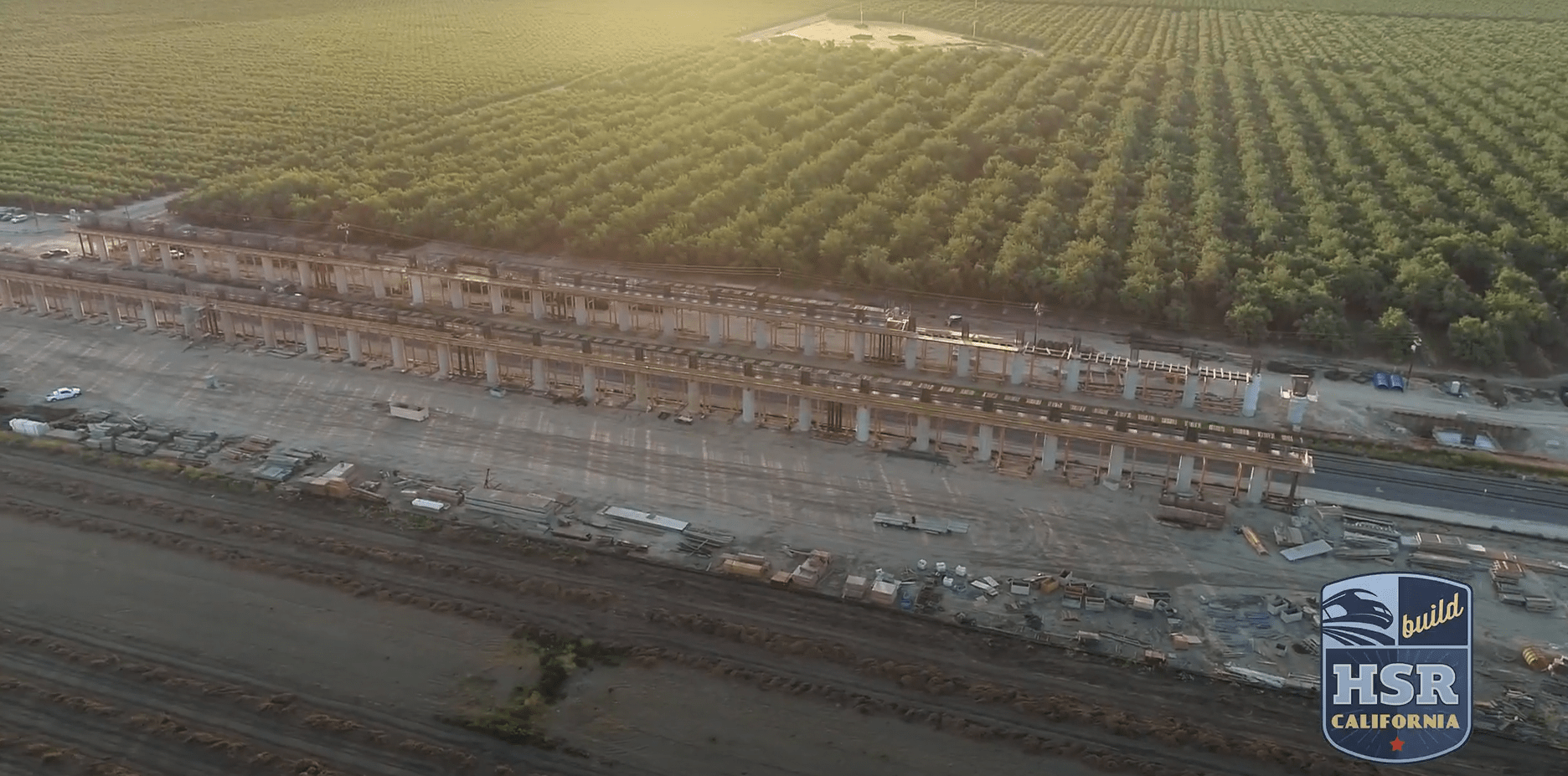 Massive structures such as these can be seen over 100 miles of the Central Valley. Photo: CAHSRA