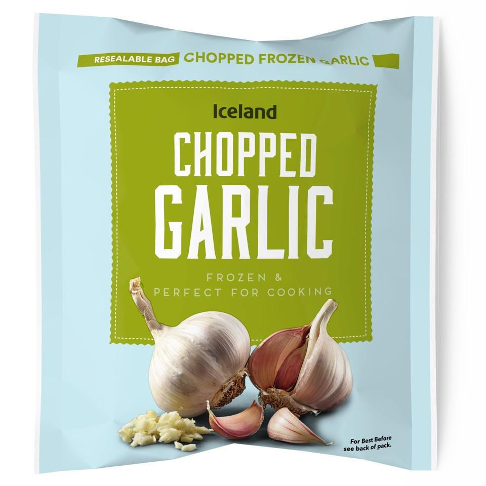 Don't waste time on prepping, buy Iceland's frozen chopped garlic for just £1