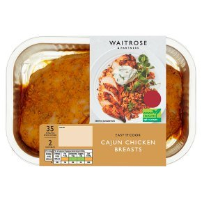 Get three dishes for £10 including Waitrose's cajun chicken breasts