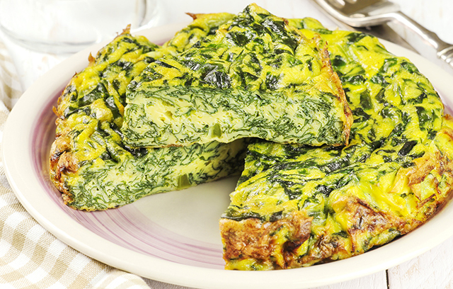 This tasty Herby frittata is a very quick and cheap recipe