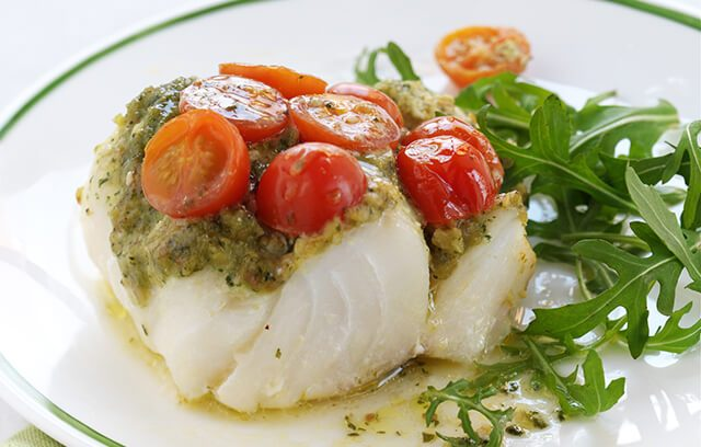 For this delicious Cod pesto parcels you will only need 5 ingredients