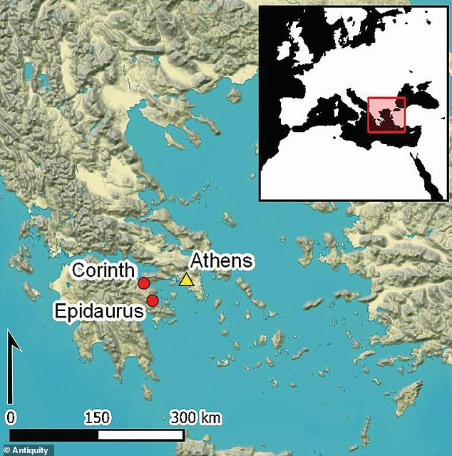 New analysis of ancient sites at Epidaurus and Corinth in Peloponnese, which has been described as the heartland of Ancient Greece