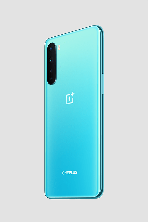 The camera lenses run vertically down the phone (OnePlus)