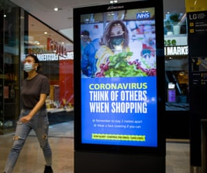 An advertisement board in Westfield shopping centre in Stratford, east London.