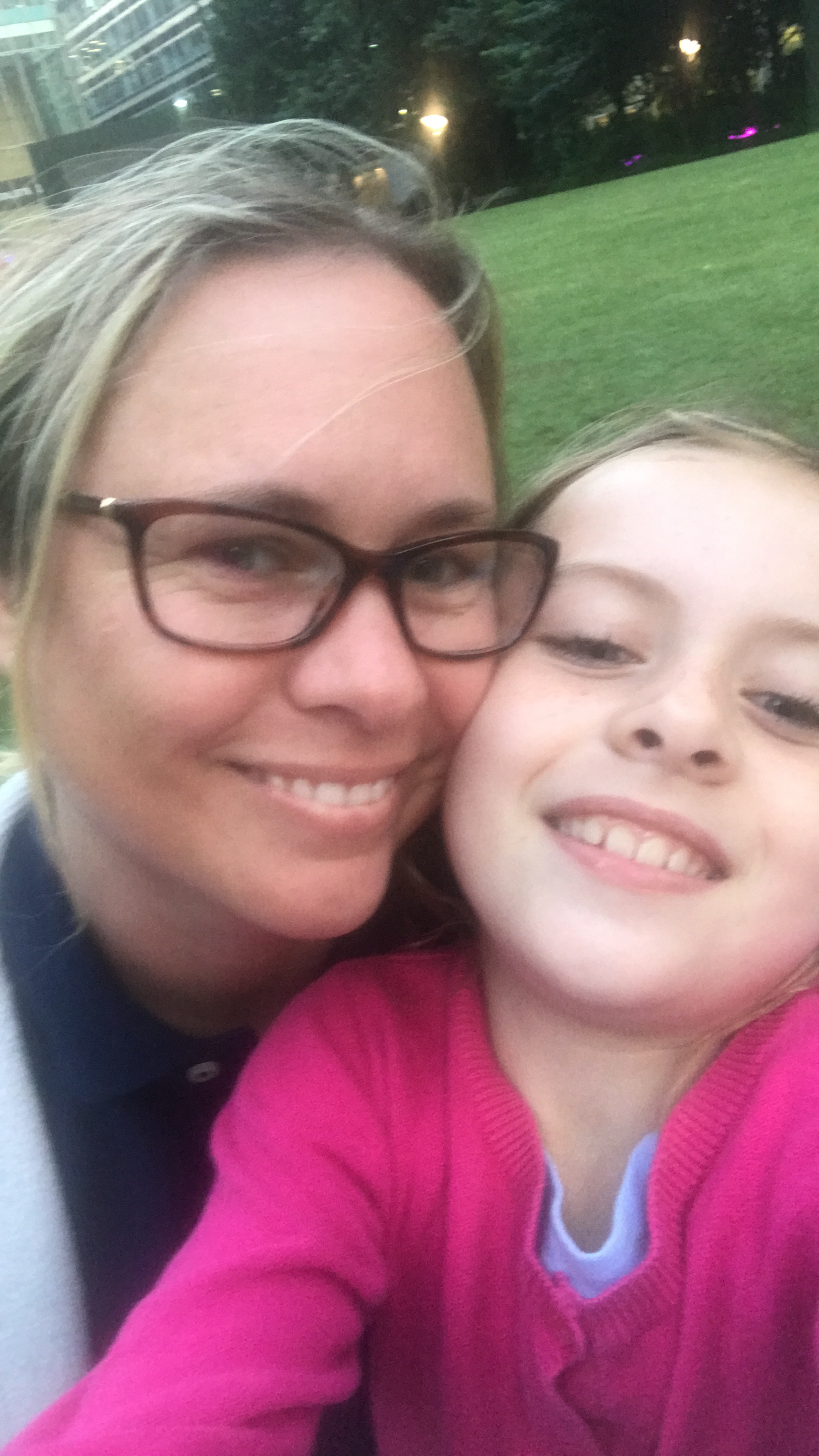 Single mum Diane O'Hara and daughter Olivia, nine