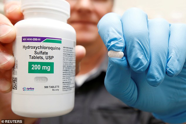 A Henry Ford Health System study found that COVID-19 patients given hydroxychloroquine were 50% less likely to die of the infection (file)