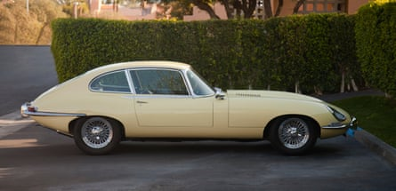 A 1966 Jaguar E-Type. The last one rolled off the Coventry production line in 1974.