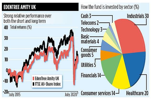 Over the past ten years, Amity UK has outperformed both the FTSE All-Share Index and the average fund among its peer group with a return of 127 per cent