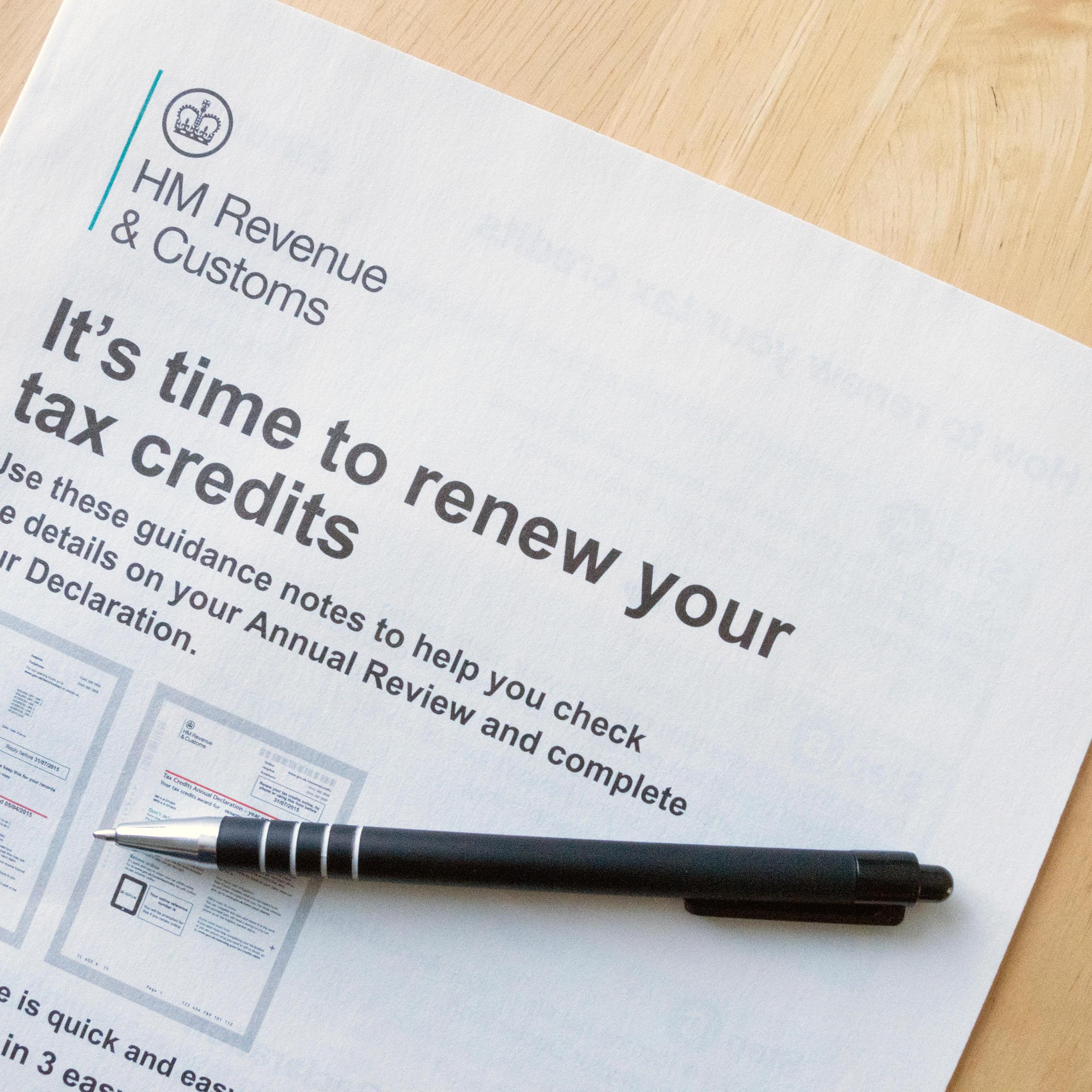 Millions of people need to check tax credit renewals to ensure nothing has changed