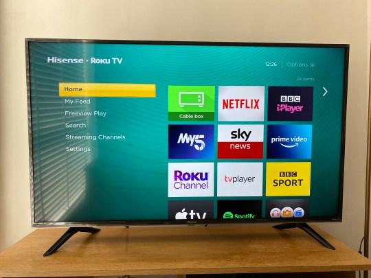 The interface on the Hisense Roku TV is really straightforward (Metro.co.uk)