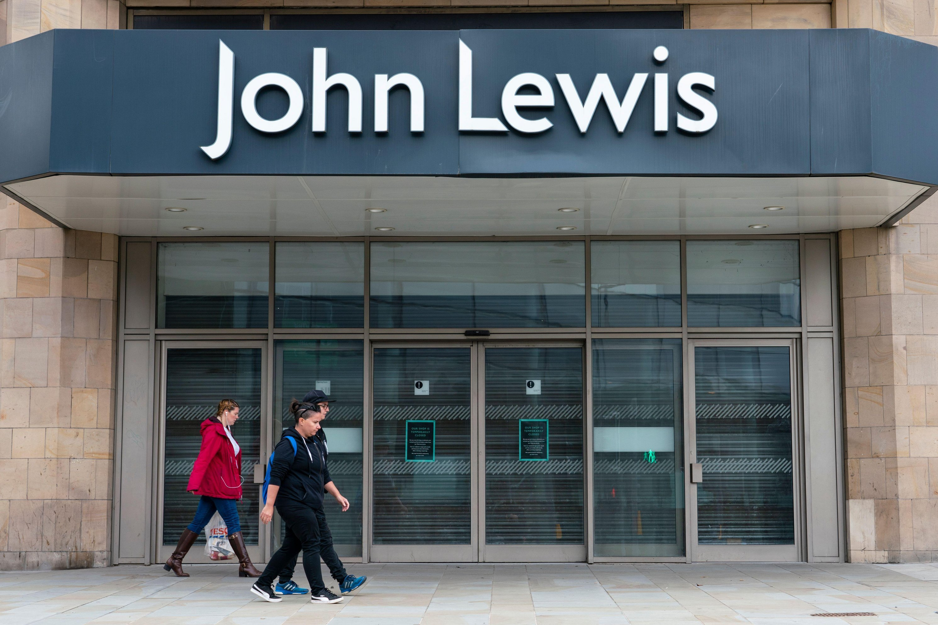 Exterior view of John Lewis store in Edinburgh