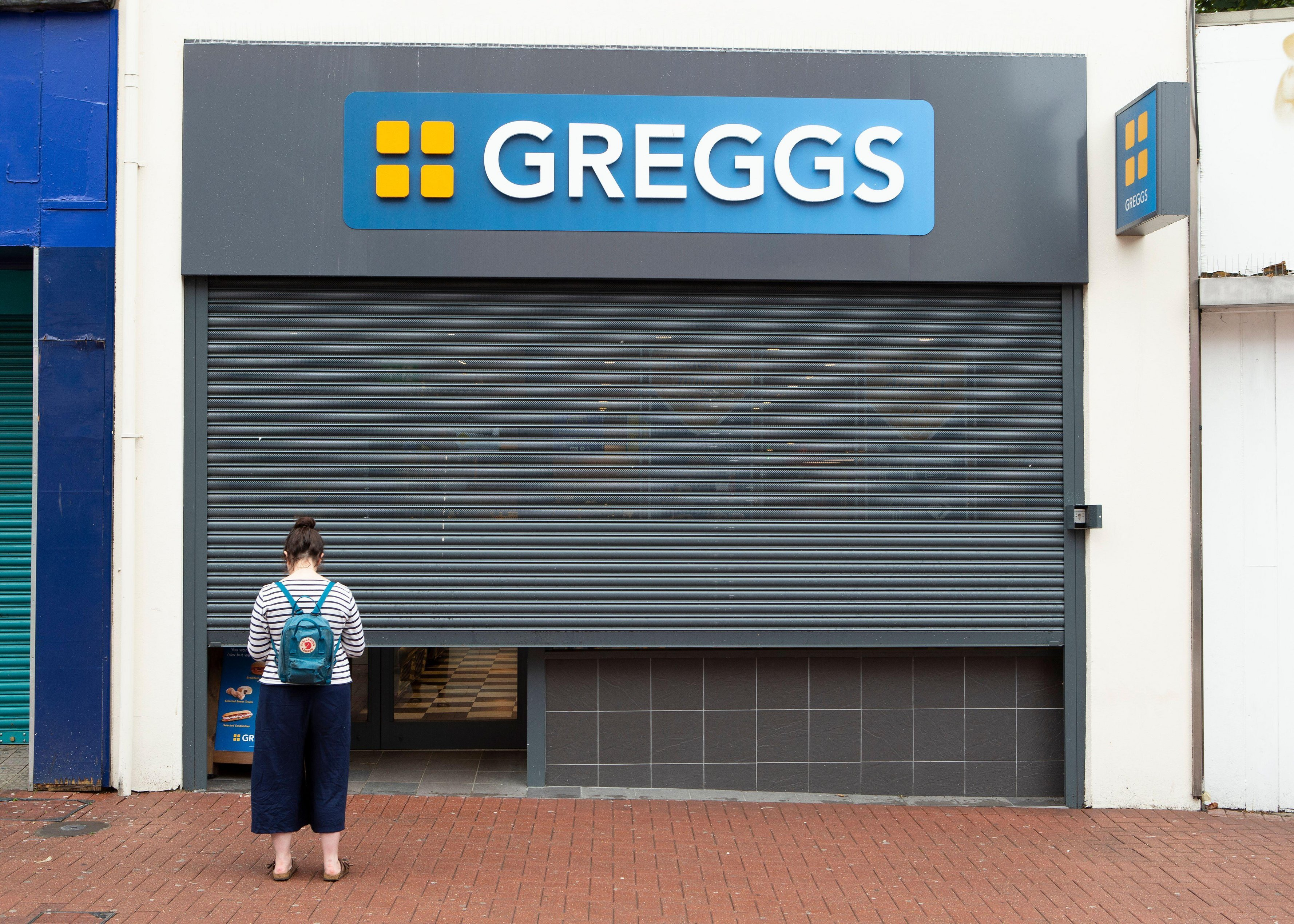 Greggs is among the major chains that won't reopen for dine-in customers this weekend