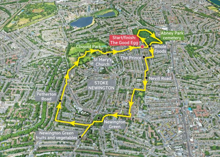 Globetrotter: Stoke Newington neighbourhood walk map