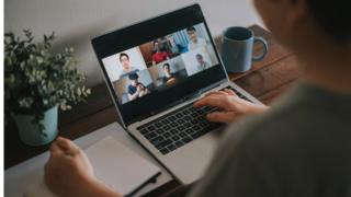 Video conferencing on laptop