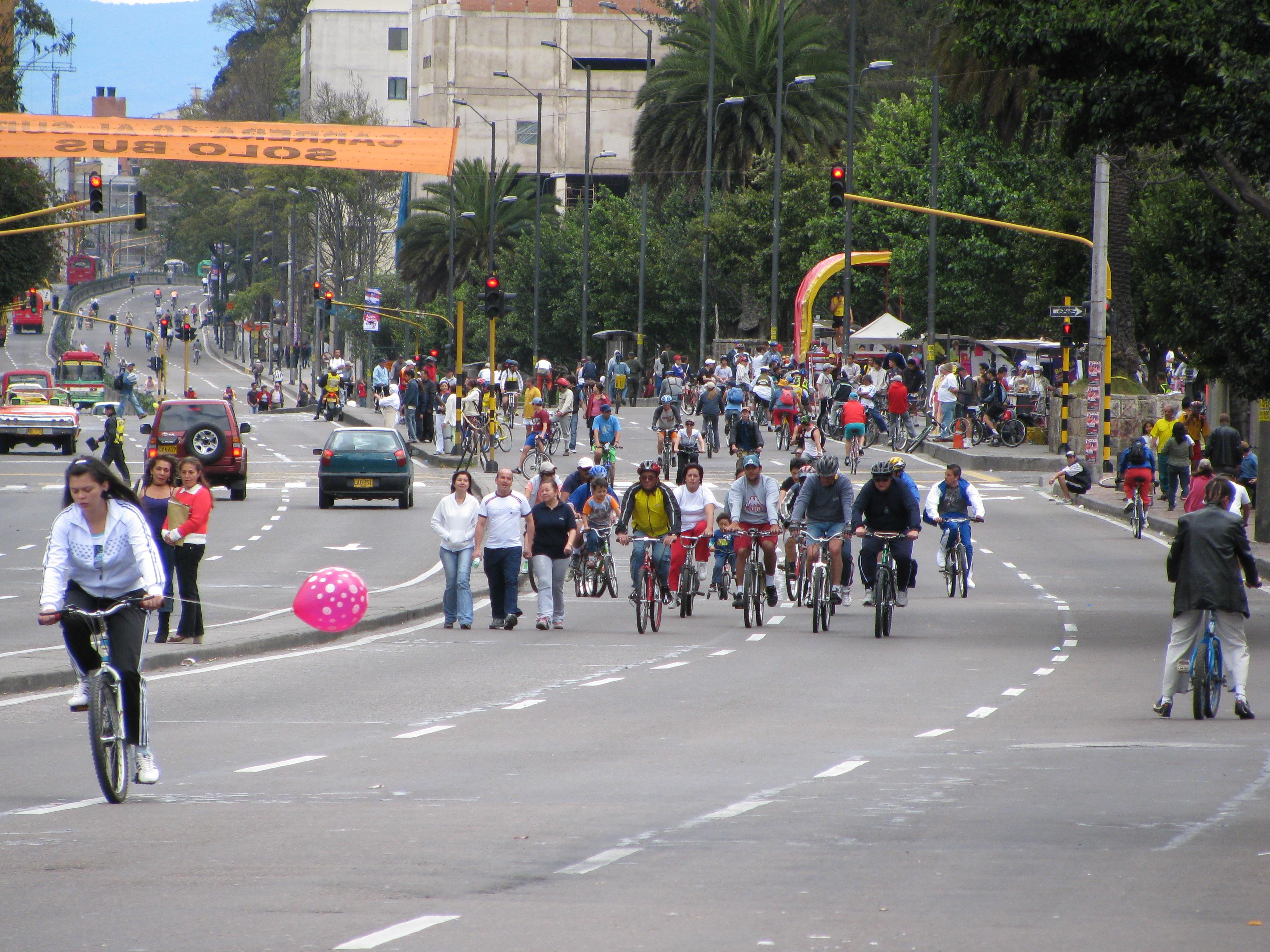 Bogota cycling Sunday road closures