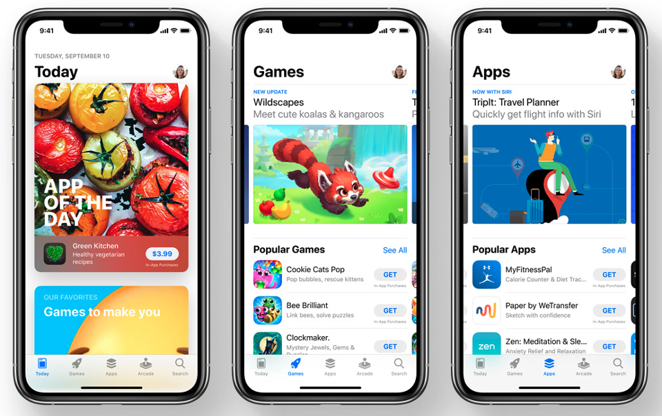 Apple's mobile App Store in iOS 14