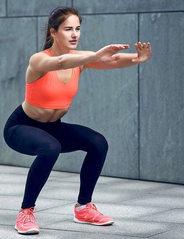 Squats can also improve strength and flexibility in the legs, which is also linked to longevity