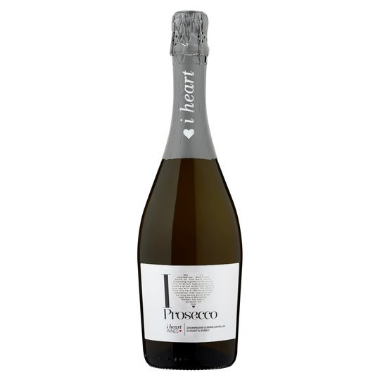 i Heart prosecco at Tesco is only £7