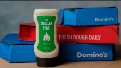 320ml Drizzler bottles are available for a limited time in selected Domino's stores nationwide