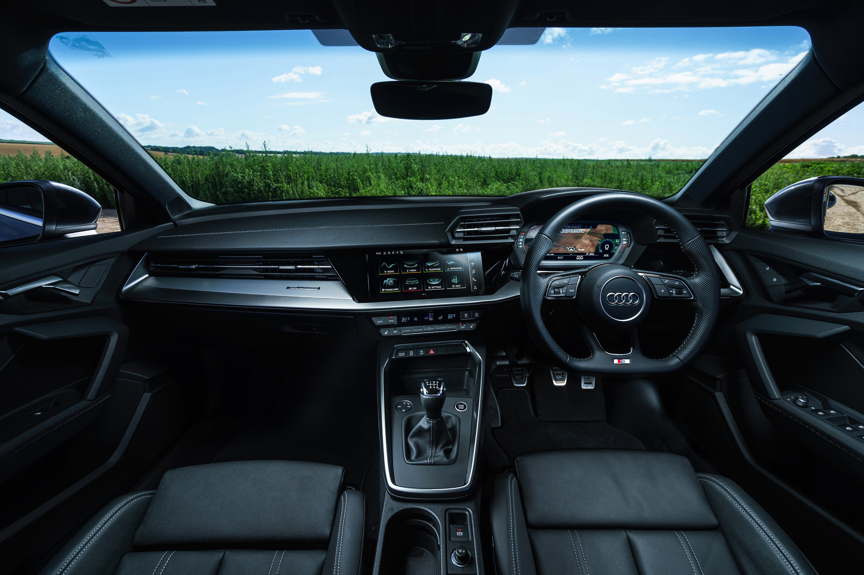 The revamped A3 cabin is typically brilliant, striking the right balance between hi-tech and sensible switches