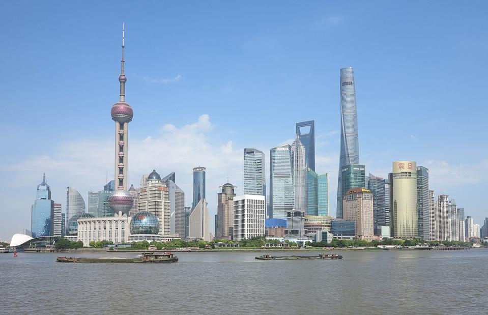 Skyline of Shanghai, China during the day
