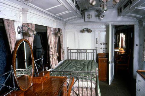 saloon of king edward viis royal train, 1903