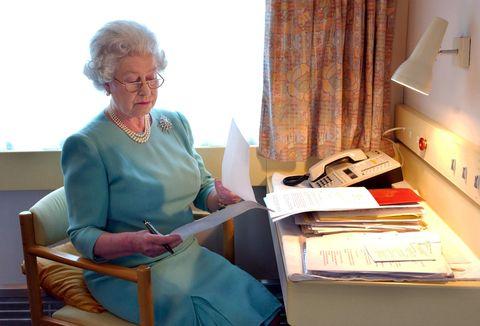 britain's queen elizabeth ii at work abo