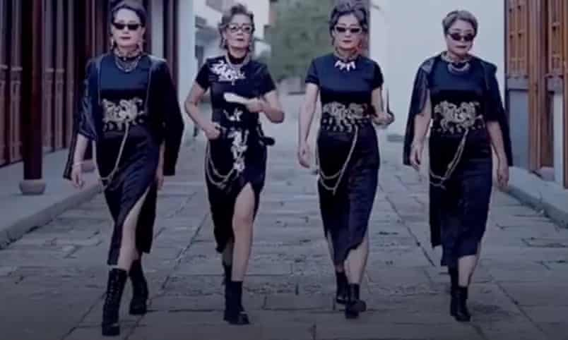 Glamma Beijing, four amateur model grandmothers, have more than 1 million followers on the Chinese video-sharing platform Douyin. On TikTok, over 488,000 people follow them as @fashion_grannies