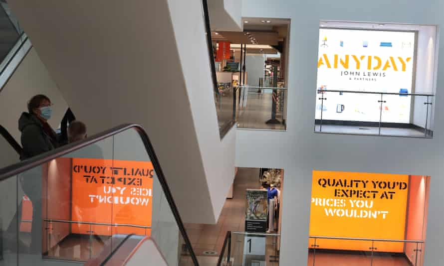 Promotional signage for the Anyday range, which spans over 2,400 products, at John Lewis department store, Oxford Street.