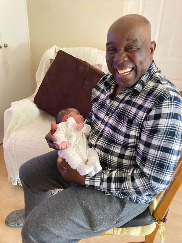 Paul's dad Louis with great-granddaughter Mila