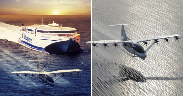 The all-electric 'flying ferries' could be in the air by 2028 (PA)