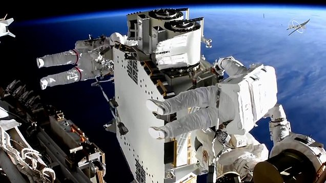 Astronauts complete over six-hour spacewalk to install solar array