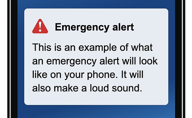 Some Android mobile phone users in England got an 'emergency alert' from the government today, as part of a nationwide test of a new warning system