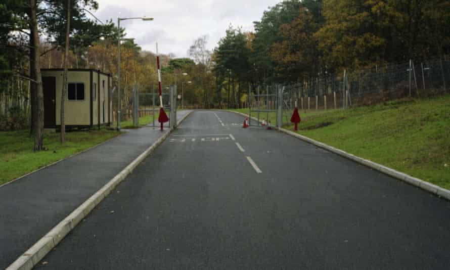 The Royal Way Gate at Deepcut army barracks .