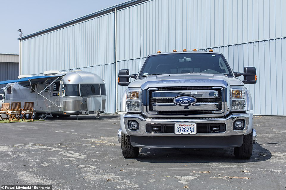 The truck is the vehicle bought by Hanks in 2010 to haul the Airstream trailer because it 'gave a kinder, gentler tow'