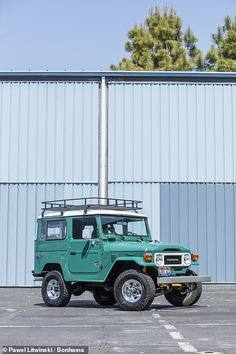 Also being made available to the highest bidder is Hanks' customised 1980 Toyota FJ40 Land Cruiser