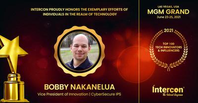 Award recipient Bobby Nakanelua, InterCon Top 100 Innovators & Influencers in Technology 2021