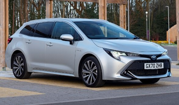 Toyota Corolla: The Toyota Corolla Touring Sports estate is priced from £26,230 for the Icon trim up to £29,620 for Design. There¿s also a 1.8-litre self-charging hybrid version.