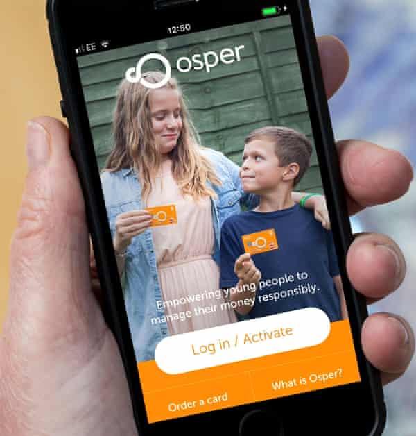 The Osper pocket money app on a mobile phone.