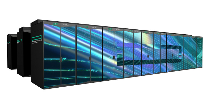 HPE Cray EX supercomputer uses AMD chips.